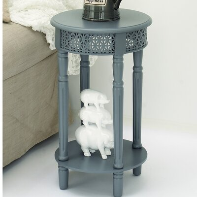 Berkshire Wood Round End Table Color: Gray
