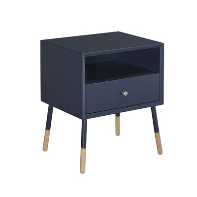 Meagher 1-Drawer End Table with Storage