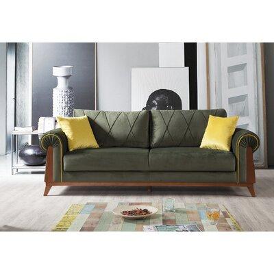 Lambert Sleeper Sofa Upholstery: Green, Frame Finish: Chestnut