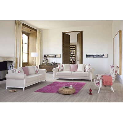 Lambert Sleeper Sofa by Perla Furniture Upholstery: Off White, Frame Finish: White