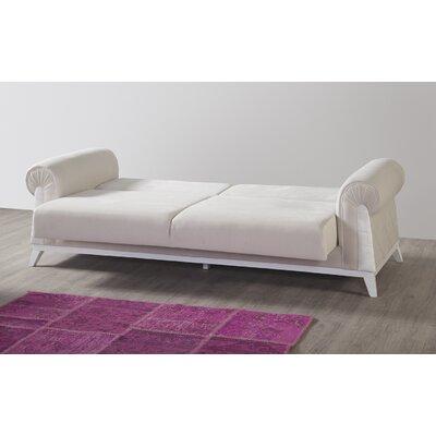 Lambert Sleeper Sofa Upholstery: Off White, Finish: White