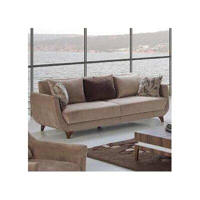 Dream Sleeper Sofa Upholstery: Brown, Finish: Chestnut
