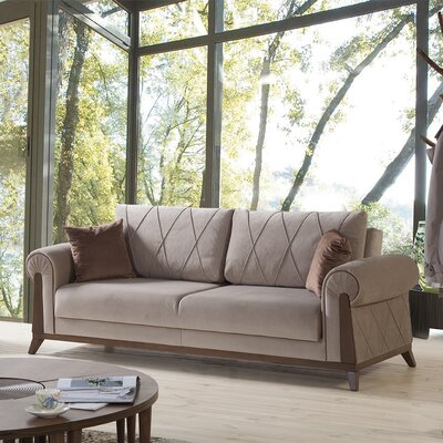 Lambert Sleeper Sofa Upholstery/Frame Finish: Light Brown/Chestnut