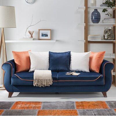 Istanbul Sleeper Sofa Upholstery: Navy Blue