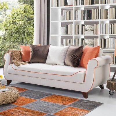 Istanbul Sleeper Sofa Upholstery: Cream