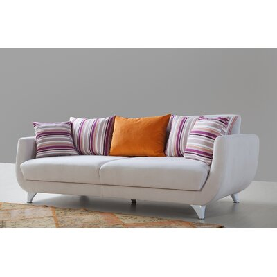 Dream Sleeper Sofa Upholstery: White, Finish: White
