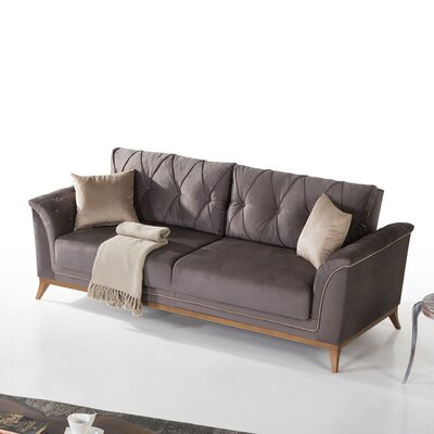 Alextown Sofa Upholstery: Dark Grey/Silver