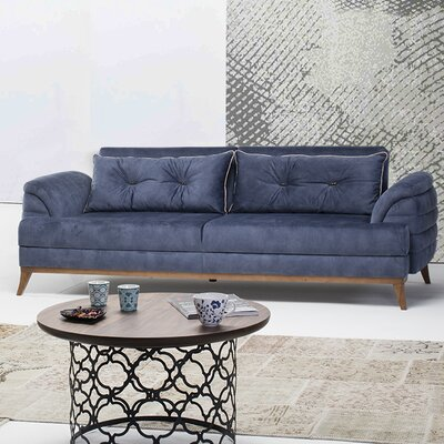 Hoffman Sofa by Perla Furniture Upholstery: Blue