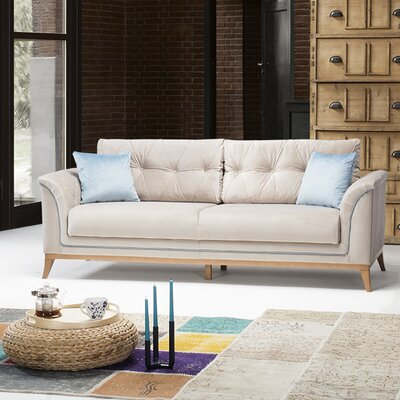 Alextown Sofa Upholstery: Cream/Blue