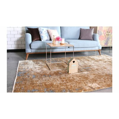 Bindu Brown/Blue Area Rug