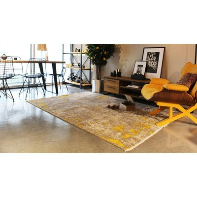 Bindu Yellow/Cream Area Rug