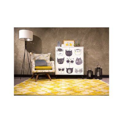 Lorelei Yellow/Gray Area Rug