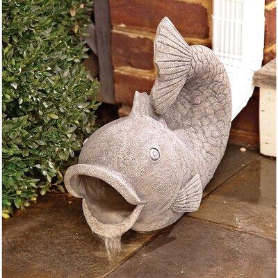 Fish Downspout Statue