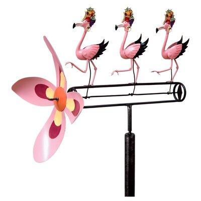 Carmen Miranda Pink Flamingos Whirligig Pinwheel
