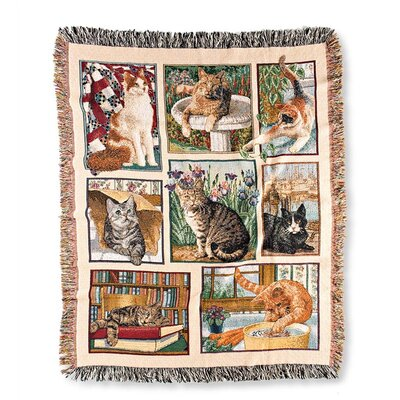 Cats Tapestry Cotton Throw