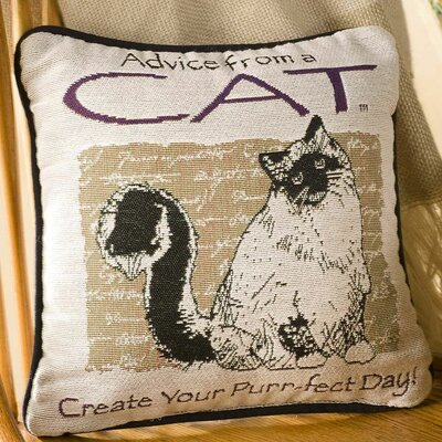 Cat Advice Cotton Throw Pillow