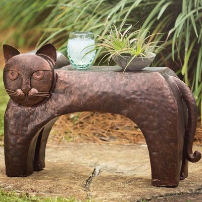 Metal Cat End Table