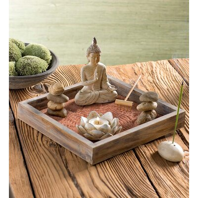 Zen Garden with Buddha Decorative Box HD8737