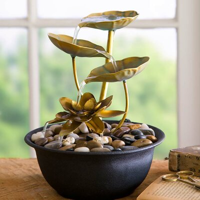 Water Lily Indoor Fountain FT6534