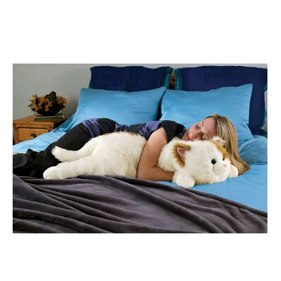 Cat Body Pillow Color: Brown/White