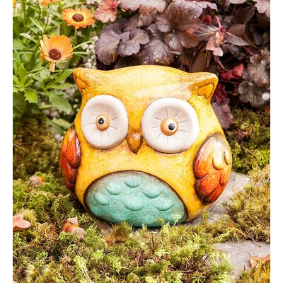 Ceramic Chubby Owl Statue GO7857