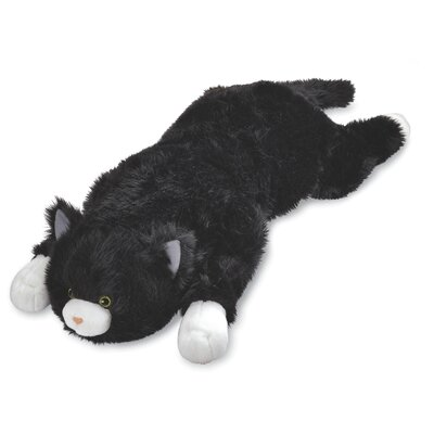 Cat Body Pillow Color: Black/White