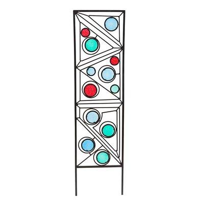 Metal and Glass Garden Geometric Trellis GO7904