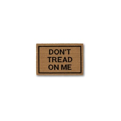 Don't Tread on Me Coir Doormat