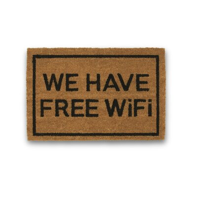 We Have Free WiFi Coir Doormat