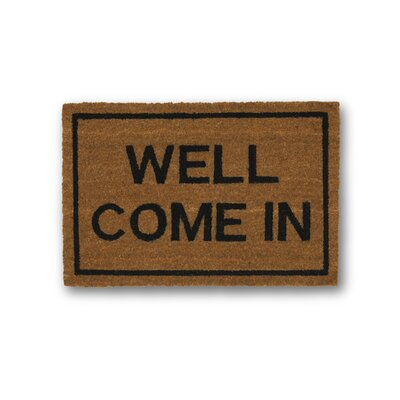 Well Come in Coir Doormat