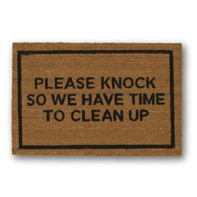 Please Knock Coir Doormat