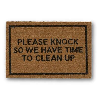 Please Knock Coir Doormat