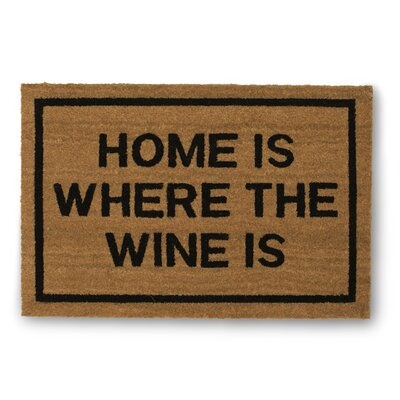 Home is Where the Wine is Coir Doormat
