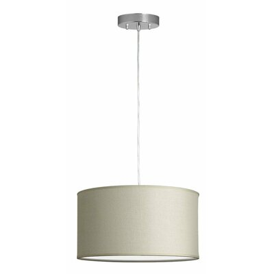 Kluge 1-Light Drum Pendant Shade Color: Vanilla