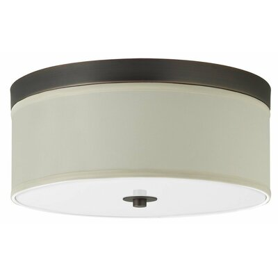 Broyles 1-Light Flush Mount Finish: Brushed Nickel, Size: 6 H x 15 W x 15 D