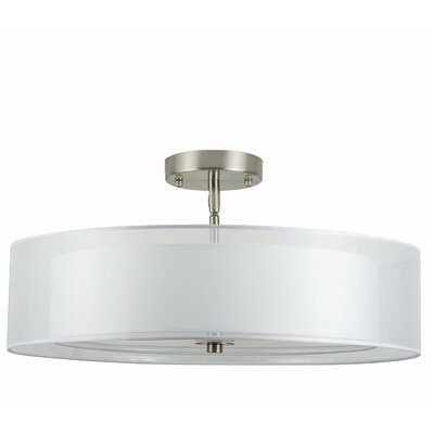 Broach 3-Light Semi-Flush Mount Finish: Brushed Nickel