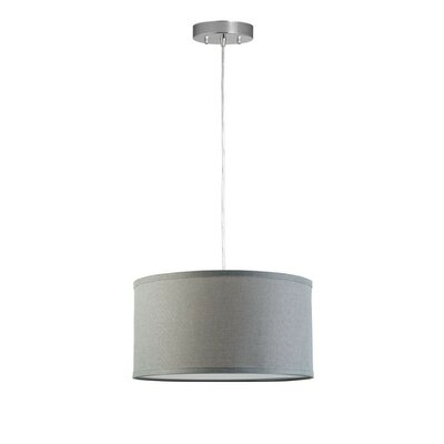 Kluge 1-Light Drum Pendant Shade Color: Heather Gray