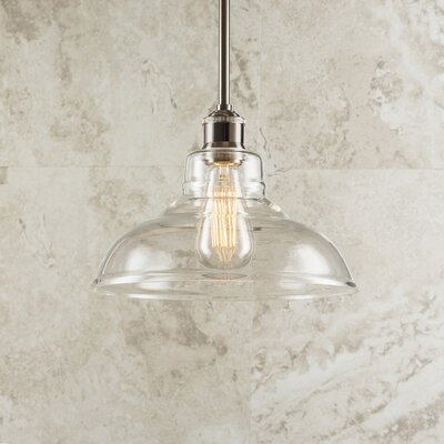 Fresno Dome 1-Light Mini Pendant Finish: Brushed Nickel