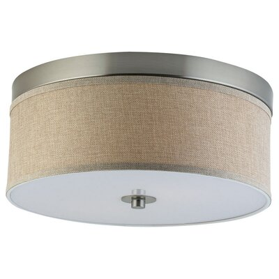 Broyles 2-Light Flush Mount Shade Color: Natural Linen