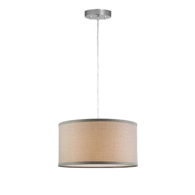 Messina 1-Light Drum Pendant Shade Color: Natural Linen