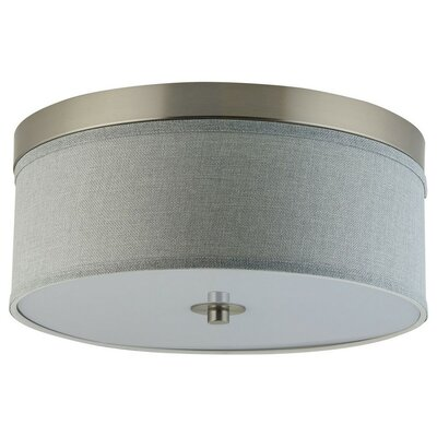 Broyles 2-Light Flush Mount Shade Color: Heather Gray