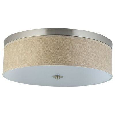 Broyles 3-Light Flush Mount Shade Color: Natural Linen
