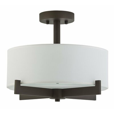 Parkside 3-Light Semi Flush Mount Finish: Dark Bronze