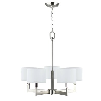 Parkside 5-Light Drum Chandelier Finish: Brushed Nickel