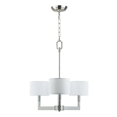 Parkside 3-Light Drum Chandelier Finish: Brushed Nickel