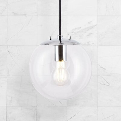 Poppe 1-Light LED Globe Pendant Finish: Polished Chrome