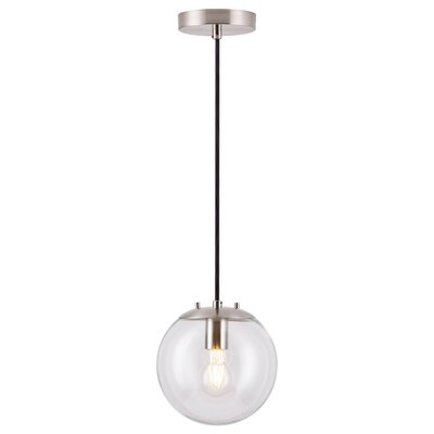 Poppe 1-Light LED Globe Pendant Finish: Brushed Nickel