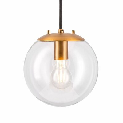 Poppe 1-Light LED Globe Pendant Finish: Brushed Brass