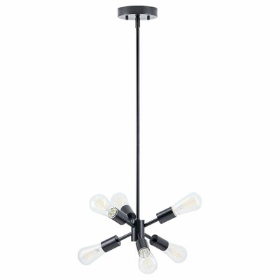 Eastridge 6-Light LED Sputnik Chandelier Finish: Black