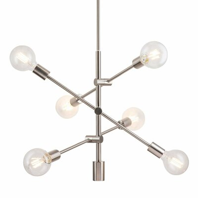 Gini 6-Light Sputnik Chandelier Finish: Brushed Nickel